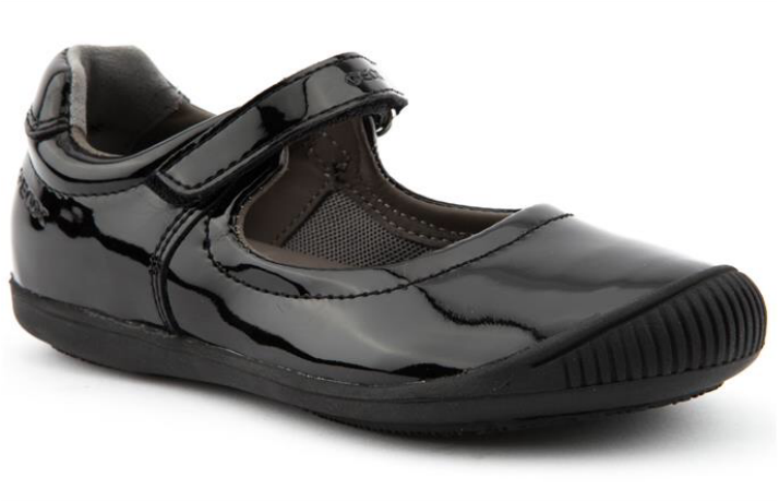 Geox patent school shoes from Brantano Picture