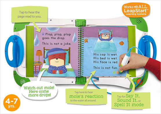 Picture of LeapStart Interactive learning system with child using it
