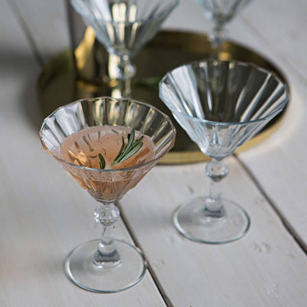 Picture of Art Deco cocktail glasses on a table