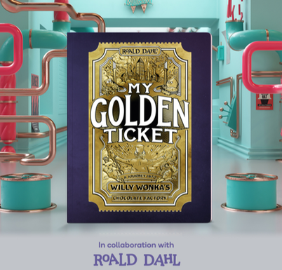 Picture of My Golden Ticket book from Wonderbly