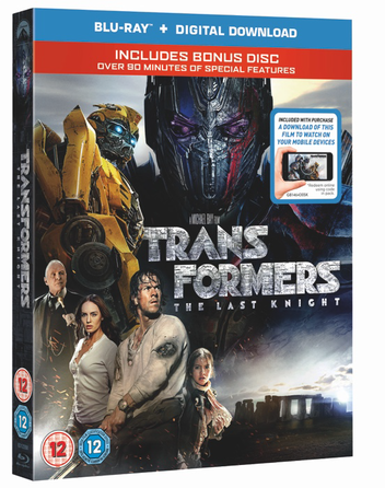 Picture of Transformers The Last Knights DVD case