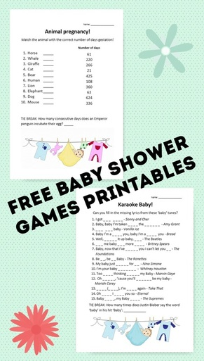 Free Baby Shower Games Printables All About A Mummy