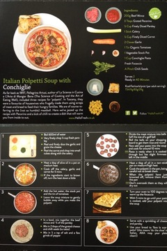 Picture of Hello Fresh soup recipe card