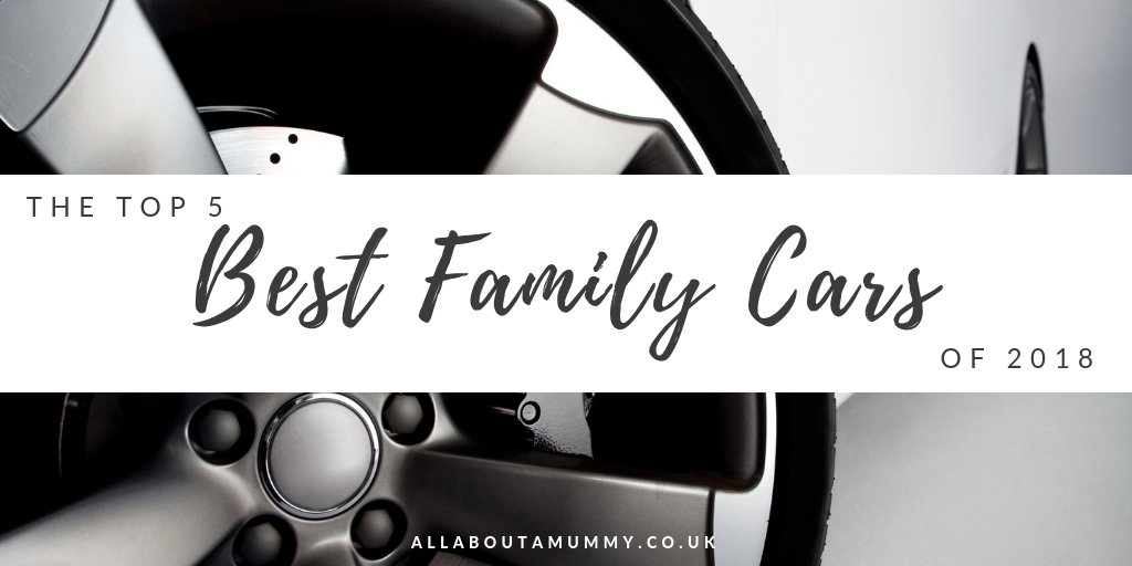 picture of car wheel with The Top 5 Best Family Cars of 2018 blog post title.
