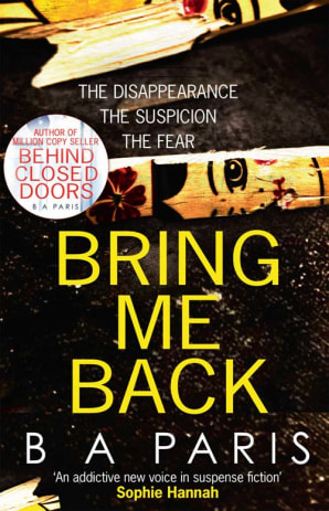 Picture of Bring Me Back by B.A. Paris book cover