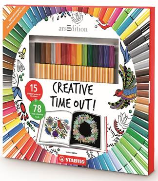 Creative Time Out colouring in set Picture