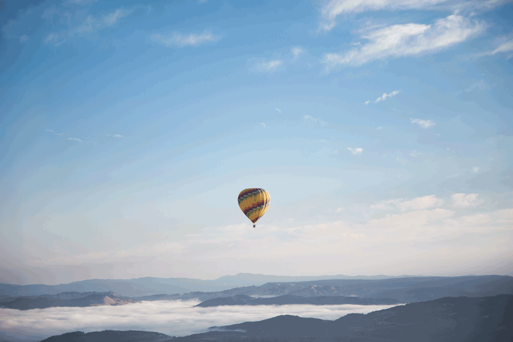 Picture of hot air balloon in the sky