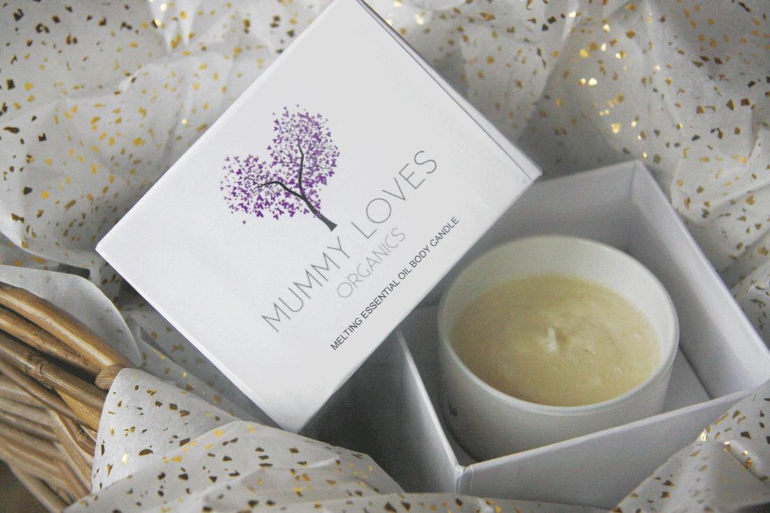Picture of Mummy Love Organic body massage candle