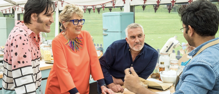 The Great British Bake Off picture of judging