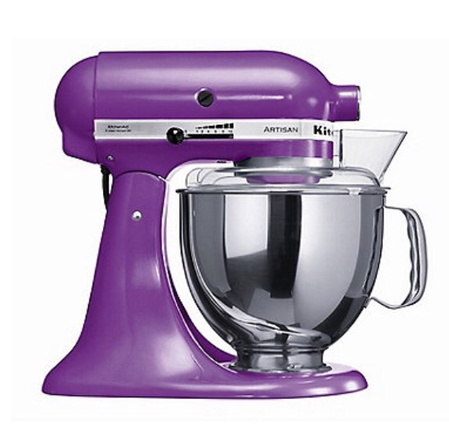 Kitchenaid Artisan stand mixer in Grape from Debenhams