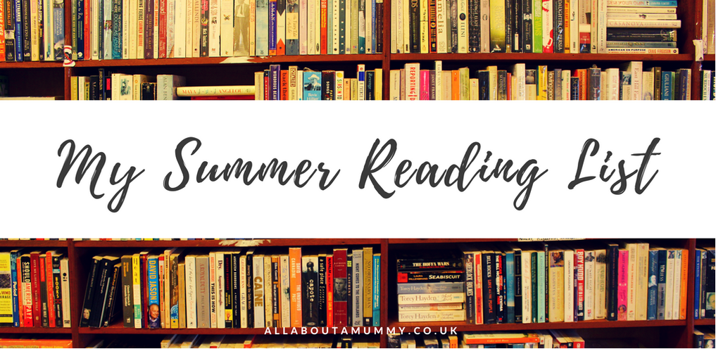 Picture of book shelf with 'My Summer Reading List' title