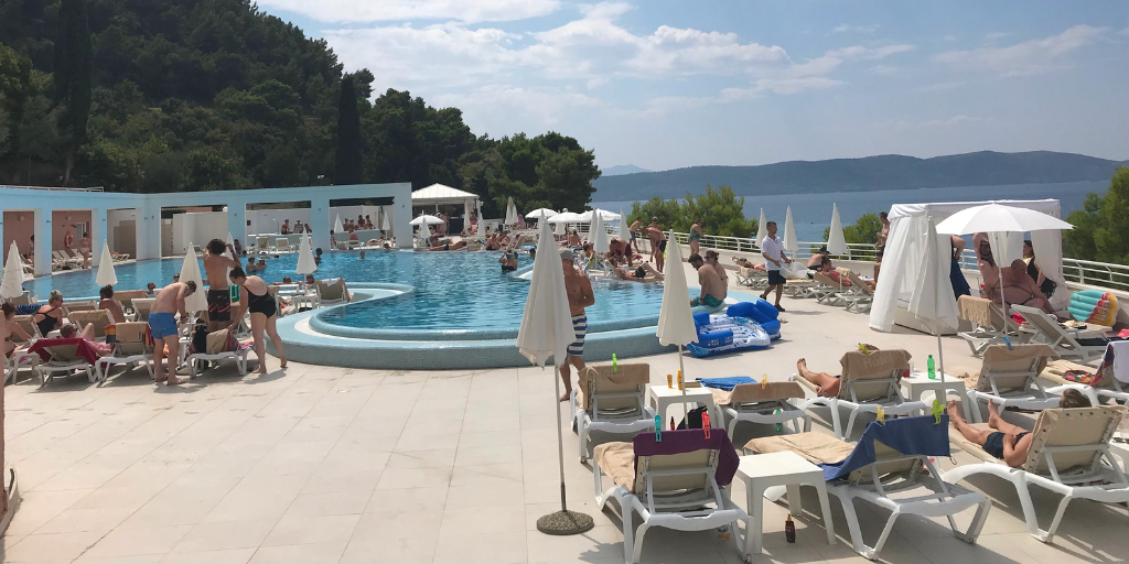 Picture of pool and pool bar area - Sensimar Adriatic Beach Croatia Review