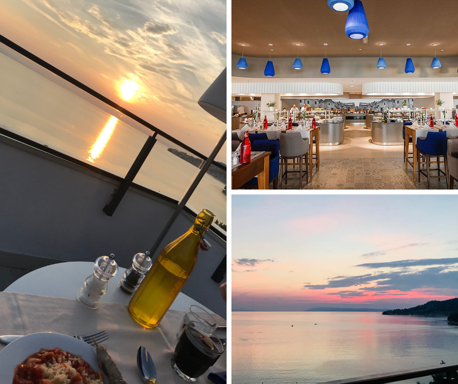 Pictures of sunset from Dalmatino restaurant terrace - Sensimar Adriatic Beach Croatia Review